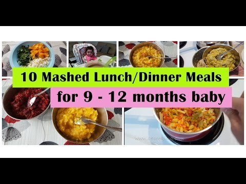 Video 10 Mashed meals for 9 - 12 months baby | 9,10,11,12 months baby food recipes | Indianbabyfoodrecipes