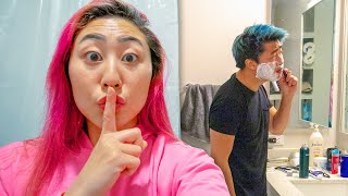 I SNUCK INTO HIS APARTMENT!!