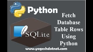 Read from (SELECT) Database table - SQLite3 with Python 3 | Lecture  17 | Hindi