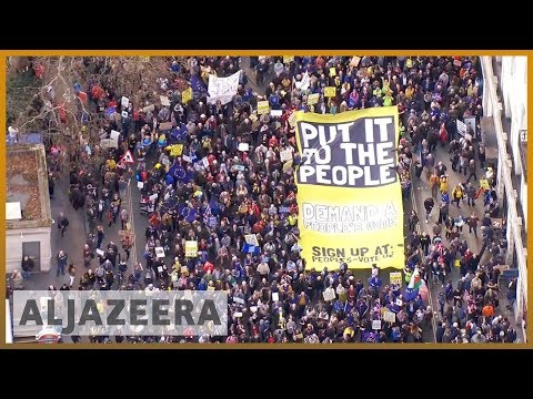 🇬🇧 Mass London protest demands second referendum on Brexit | Al Jazeera English