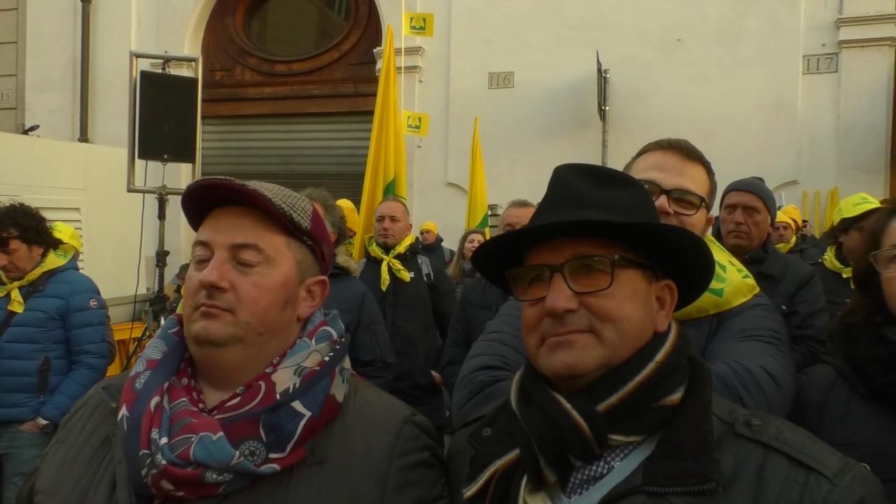 La protesta dei pastori sardi a Roma