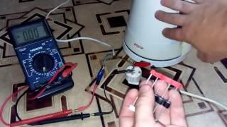 Подключение нагрузки через конденсатор Part 1
