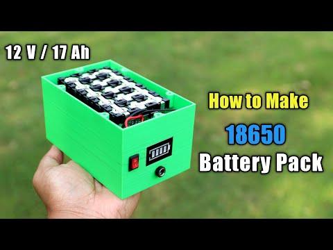 DIY 18650 Battery Pack for Solar Generator