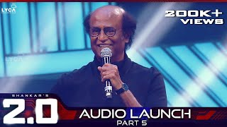 2.0 Audio Launch - Part 5 | Rajinikanth, Akshay Kumar | Shankar | A.R. Rahman