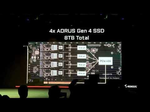 Gigabyte представляет AORUS Gen 4 NVMe AIC 8 ТБ SSD со скоростью чтения 15 ГБ/с