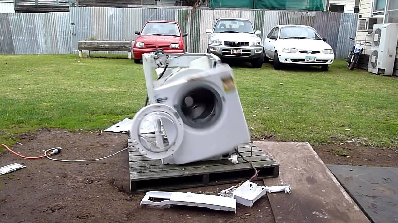 Watch This Poor, Abused Washing Machine Go Completely Insane And Explode