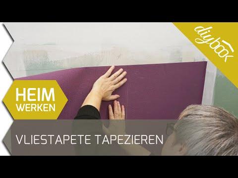 Vliestapete tapezieren - Zwei Farben ohne Rapport