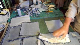 Prepping Jeans For Memory Quilt