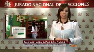 Constitución Política Del Perú Define Finalidad Funciones Y Formación Del Sistema Electoral