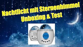 Nachtlicht Kind - Sternenhimmel Projektor Unboxing & Test