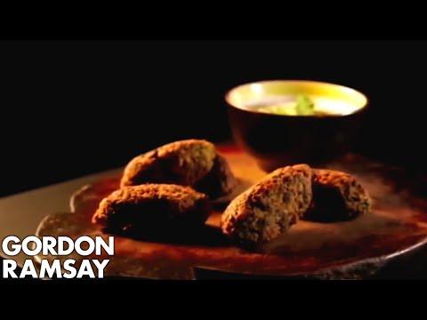 Chickpea  Cumin & Spinach Koftas with a Tahini Dressing   Gordon Ramsay