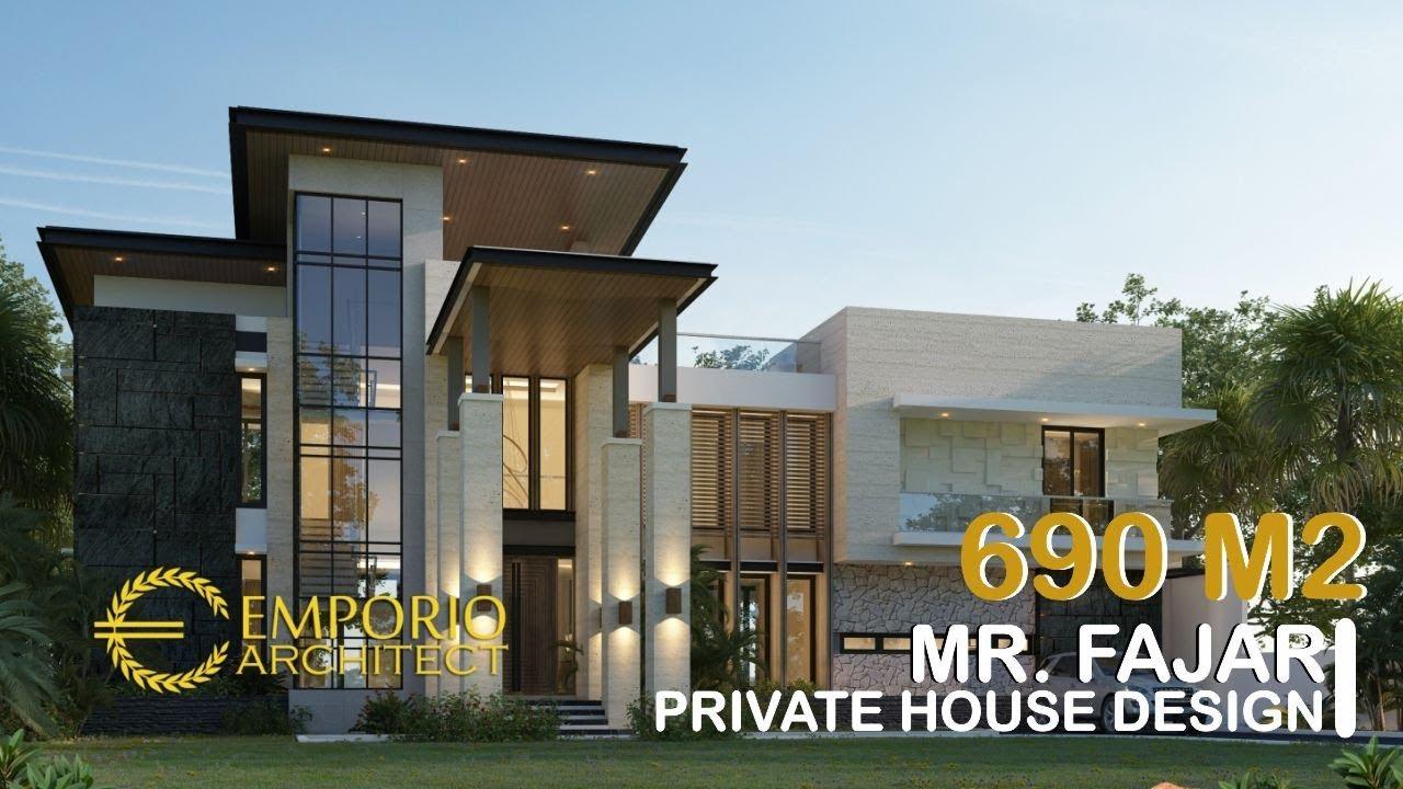 Video 3D Mr. Fajar Modern House 3 Floors Design - Purwakarta, Jawa Barat
