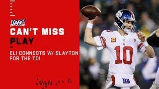Eli Connects w/ Darius Slayton for the TD!