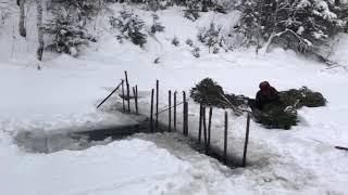 Ловля налима зимой на морду