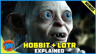 Gambar cover Lord of The Rings and Hobbit Trilogy Explained in Hindi