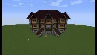 Minecraft Villa Bauplan