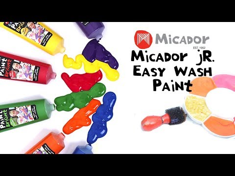 Micador jR. Easy Wash Paint, White, 120ml