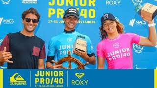 Tiago Carrique And Juliette Lacome Claim Final Wins - Junior Pro 40 Highlights