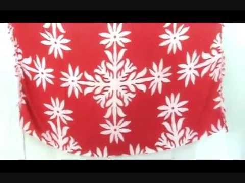 red and white snowflake sarong wholesalesarong.com