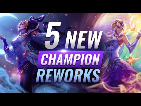 MASSIVE CHANGES: 5 NEW CHAMPION REWORKS + Kit Updates + VFX Redesigns - League of Legends Season 10