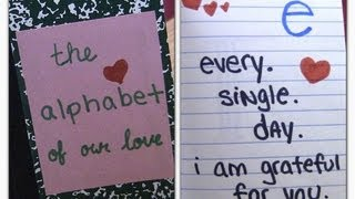 DIY Alphabet of Love Valentines day gift ideas, DIY gifts for boyfriend, Anniversary gift ideas
