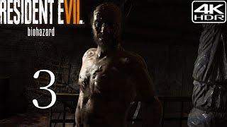 Resident Evil 7  Biohazard  Walkthrough Gameplay 3  Jack Baker Boss Fight 4K 60FPS HDR Madhouse