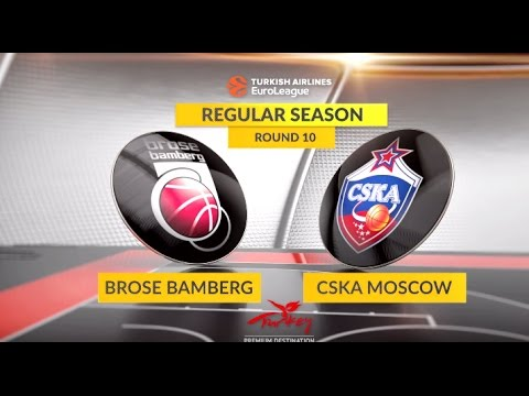 EuroLeague Highlights RS Round 10: Brose Bamberg 88-90 CSKA Moscow