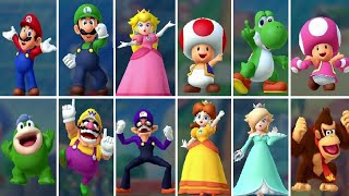 Mario Party 10 - All Characters (Gameplay Showcase)