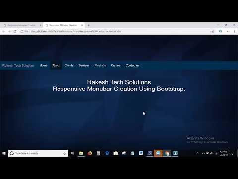 How To Create Responsive Menubar Using Bootstrap   Responsive Menu bar