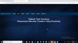 How To Create Responsive Menubar Using Bootstrap   Responsive Menu bar