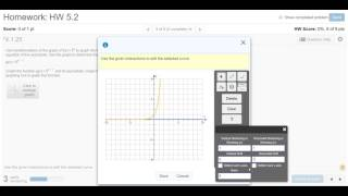 Graph Exponential Function On MyMathLab
