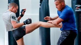 Rose Namajunas Open Workout (With Pat Barry) - MMA Fighting