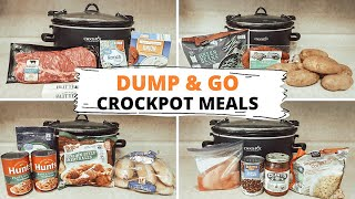 MINIMAL INGREDIENT DUMP & GO CROCKPOT MEALS: BUDGET FRIENDLY