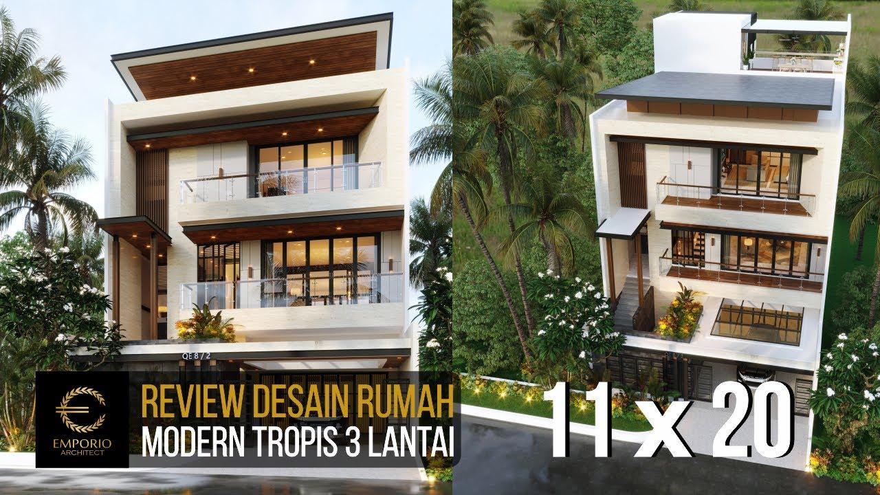 Video 3D Desain Rumah Modern 3 Lantai Ibu Gisel di Jakarta Utara