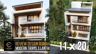Video Desain Rumah Modern 3 Lantai Ibu Gisel di  Jakarta Utara