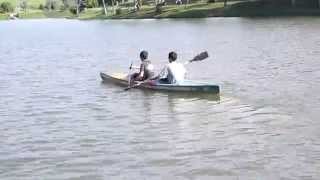 preview picture of video '019 Mardi Kluang Johor Malaysia Youth Camp Peace Fellowship Kluang Lake Canoeing 和平团契露营划船森林探险'