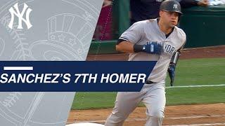 Gary Sanchez hits a 2-run home run against the Angels