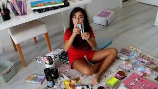 Çalışma Masamı Ve Odamı Düzenliyorum - Okul İçin  Çalışma Odamda Temizlik Günü 😍- Eğlenceli Video