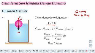 Eğitim Vadisi TYT Fizik 5.Föy Kaldırma Kuvveti 1 Konu Anlatım Videoları