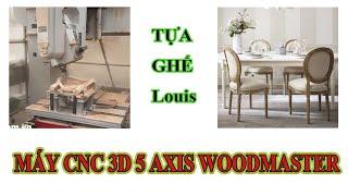 Máy cnc 3d 5 axis hoàn thiện tựa ghế biên dạng cong phức tạp   Woodmaster  