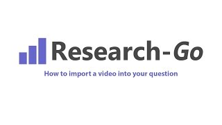 How to import a video into your question