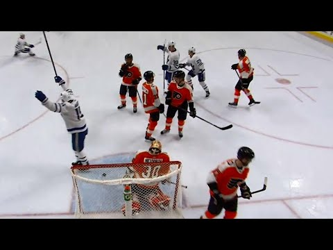 Brown, Gauthier score 28 seconds apart to give Leafs 2-0 lead on Flyers