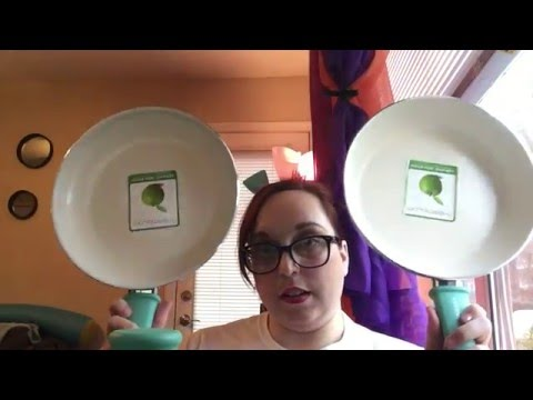 Green life ceramic (non stick) cookwear 14 piece set UNBOXING