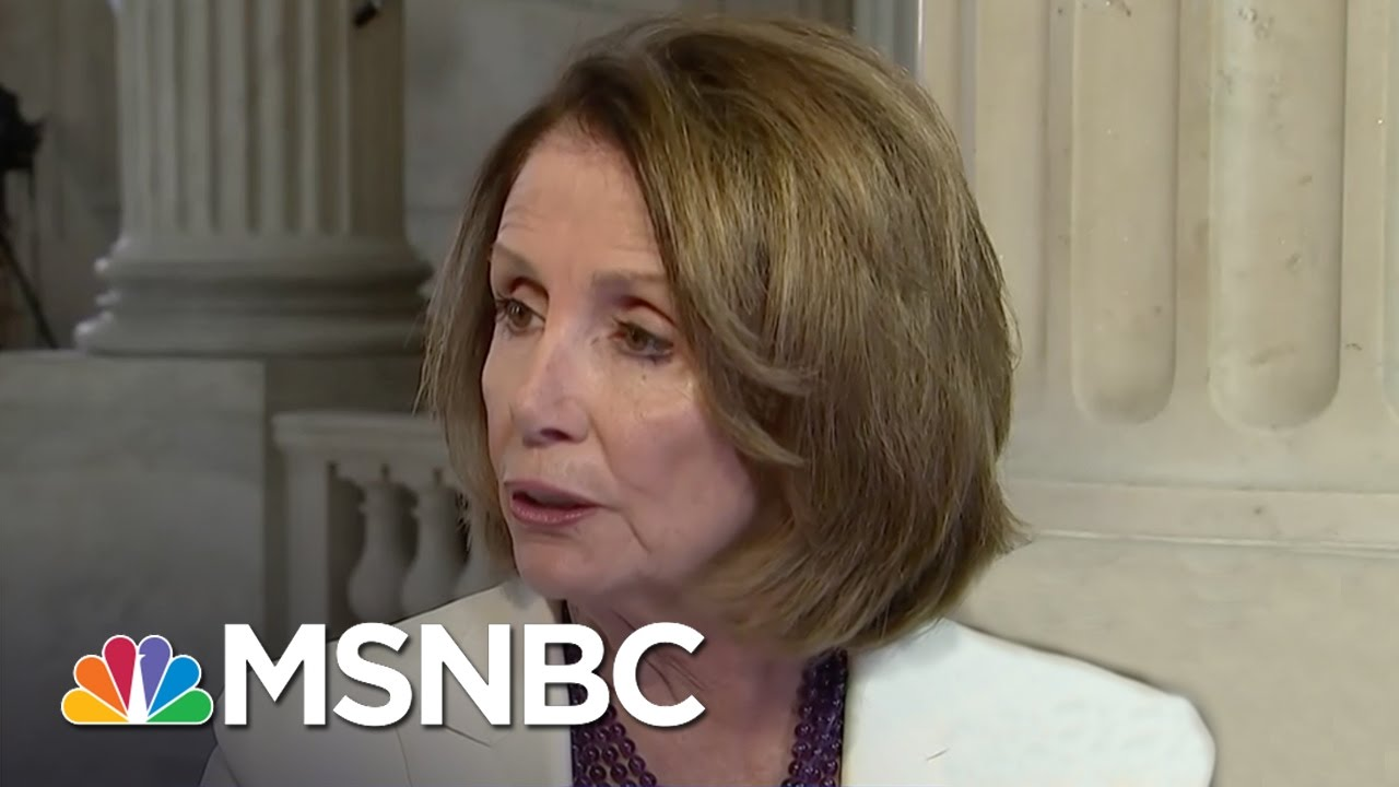 Nancy Pelosi: Democrats Have Gotten Under President Trump's Skin | Andrea Mitchell | MSNBC thumbnail