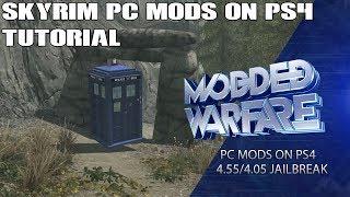 Converting Skyrim PC Mods to PS4 Jailbreak