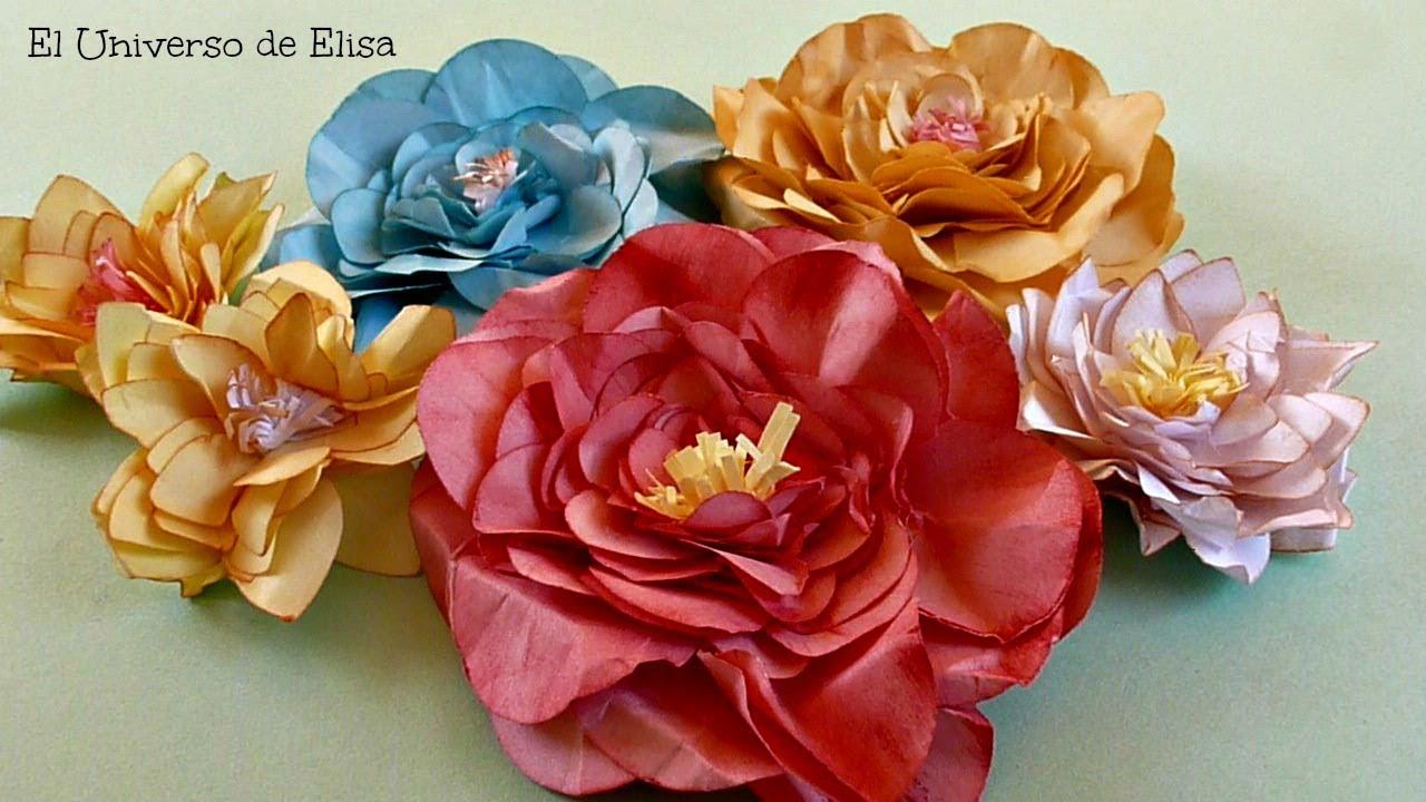 Flores de Hojas de Papel, Cómo Hacer Flores De Papel
