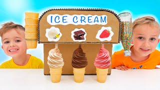 Vlad and Niki Ice Cream & Watermelon Challenge for Mom