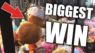 THE BIGGEST CLAW MACHINE WIN EVER! | Arcade Games