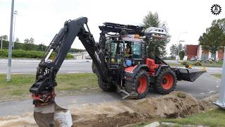 Lannen/Lännen 8600C Backhoe loader at work - Most Popular Videos