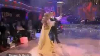 "Shawn Johnson, Mark Ballas Waltz  ""Moon River"""